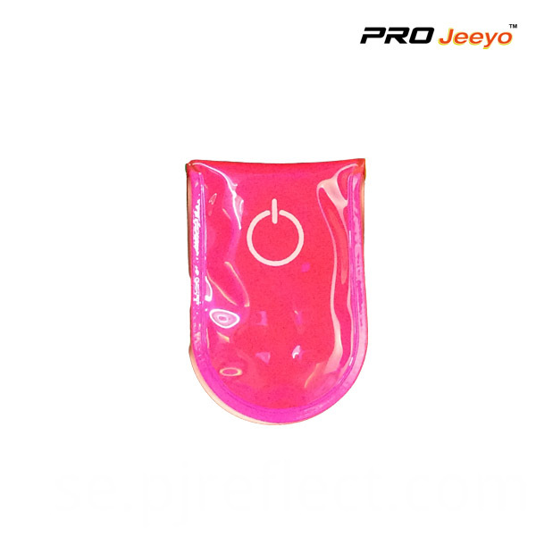 Reflective Pvc Pink Led Light Magnetic Clip For Bagscj Pvc001