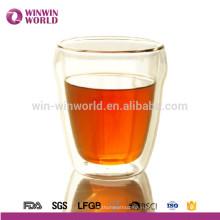 Дизайна Моды Собственный Логотип Печать Двойная Стена Стеклянная Чашка Кофе