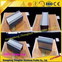 Profil en aluminium de radiateur d'extrusion d'usine pour l'industrie atomique AA6063 T5