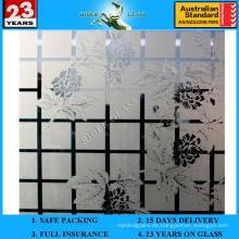3-6mm Am-70 dekorative Säure geätzter mattierter Kunst-Architekturspiegel