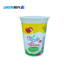 500ml custom printed plastic yogurt cup