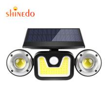 3 Head Security Lights WaterproofLight Outdoor Wall With Sensor  Three Heads Solar Powered PIR Motion Sensor Solar Light