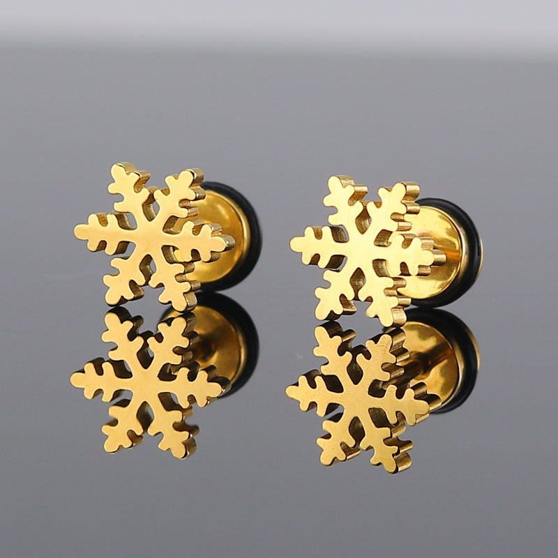 Gold Snowflake Earrings
