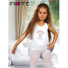 Miorre OEM Kid's Girl Cotton Cute Angel Figure Print Sleeveless Tank Top