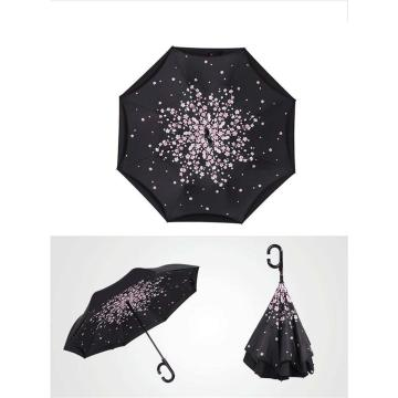 2017 Creative Big C Handle Men Inverted Umbrella