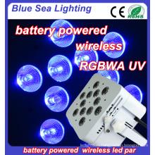 Беспроводная беспроводная батарея 6in1 12pcs rgbwa uv