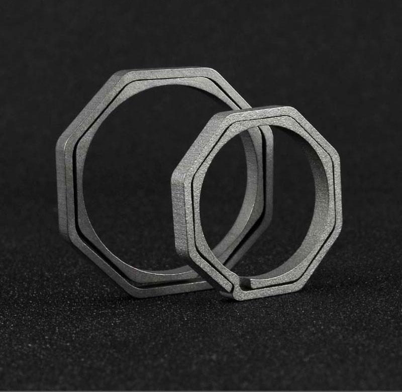 Octagonal key ring (5)