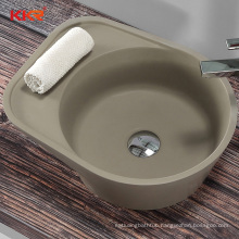 Customized Solid Surface Sink Concrete Wash Basin Artificial Stone Hotel Wall Hung Bathroom Sink