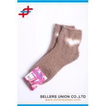 Теплый милый махровый микрофибры полоса уютный толстый труба носки пользовательский логотип