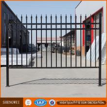 Mur de clôture en acier lourd galvanisé par immersion à chaud