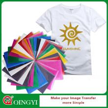 Qingyi venta caliente glitter transferencia de calor vinilo con tamaño de hoja