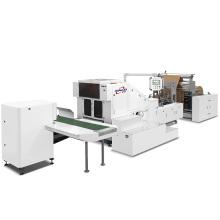 Máquina para fabricar manijas de bolsas de papel