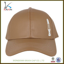 Wholesale custom design fitted leather baseball cap