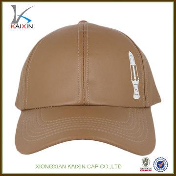 Gorra de béisbol de cuero equipada diseño al por mayor al por mayor