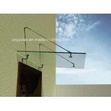 100% UV-geschützte Polycarbonat-Platte Outdoor-Tür Baldachin für Balkon