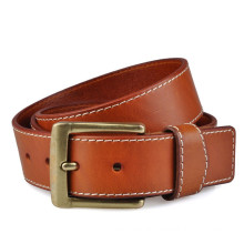 Hot sale 38mm width man's classical genuine leather belt