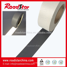 Fabricante de cuero artificial reflectante gris plata