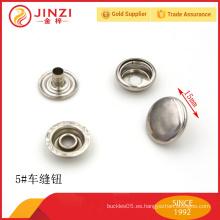 Botón de costura de encargo de lujo del anillo del metal de la calidad