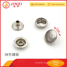 Quality luxury custom made metal ring sewing button