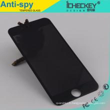 Vente chaude ! garde d'écran de la vie privée verre anti-espion trempé pour iPhone 6