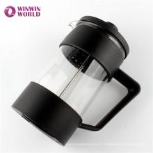 O melhor extrator de café de vidro resistente ao calor durável extravagante de venda de BPA livra PP