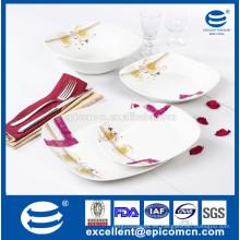 De calidad superior de 20pcs cuadrados de porcelana de forma moderna diseño dinnerwares