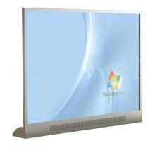 Pantalla transparente de 55 pulgadas LED Pantalla de reproductor multimedia digital con reproductor de video LCD Tablero publicitario independiente