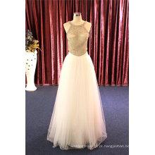 Grânulos franceses moda noite vestidos de cocktail vestido de casamento