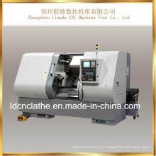 Torno de alta precisión del CNC de la cama inclinada para la venta