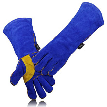 Heat/Fire Resistant , Perfect for Gardening/Oven/Grill/Mig/Fireplace/Stove/Pot Holder/ Tig Welder/Animal Leather Welding Gloves
