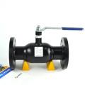 Robinet à boisseau sphérique cw617n Globe pour le chauffage urbain Robinet à boisseau sphérique soudé Vannes doublées d'un mécanisme