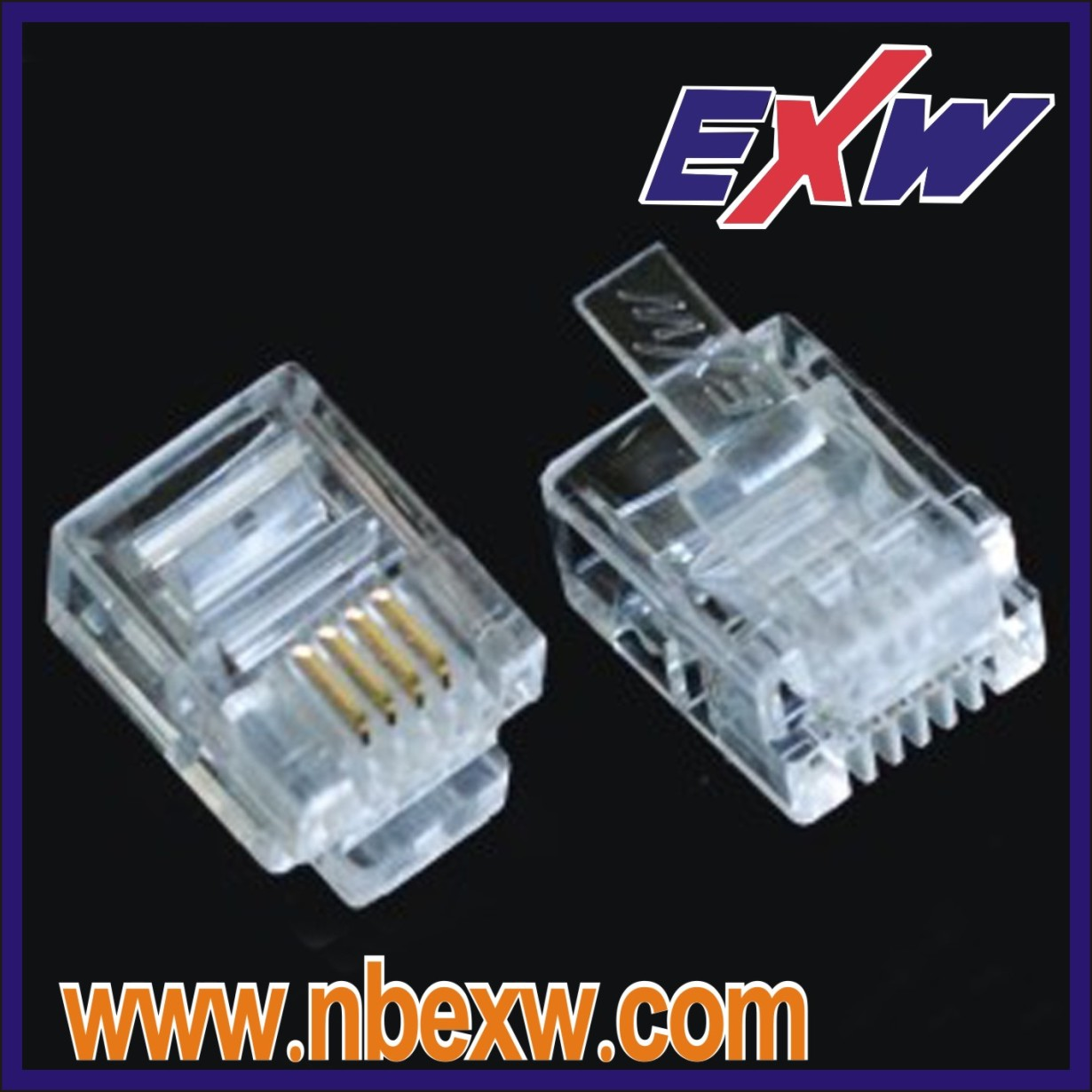 6 PIN RJ12 Telephone Connector