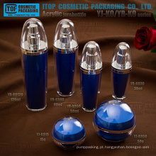 Quente-vendendo o mais atraente inovadoras reciclável interessante bola forma acrílico plástico recipiente cosmético