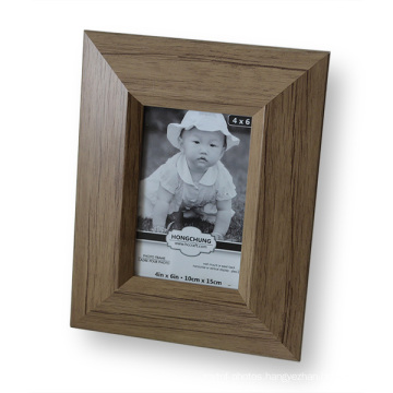 Antique Natural Wood Pattern PS Photo Frame for Home Decoration