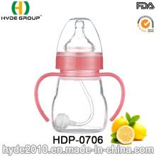 Botella de alimentación plástica del bebé del tamaño diverso respetuoso del medio ambiente 2016 (HDP-0706)