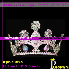 Round teardrop flower girls pageant tiaras crowns