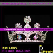 Round teardrop flower girls pageant tiaras crowns