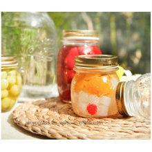 300ml 500ml 1000ml de vaso de vidrio tallado Jar para miel, botellas de comida
