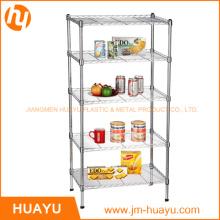 5 gradas de metal comercial estante de metal estantería de alambre estante de alambre (800lbs de servicio pesado)