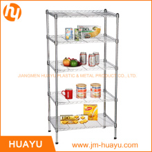 5 Tiers Commercial Chrome Metal Shelf Wire Shelving Rack Wire Stand (800lbs heavy duty)