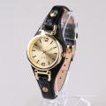 Goldart und weise Frauenuhren, Edelstahlkastenrückseiten-Uhrdame