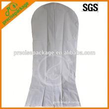 Capa de pano respirável vestido de noiva vestido de noiva