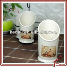new style ceramic cutlery sets holder with black stand