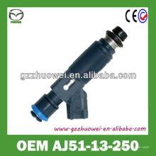 Nuevo llega el inyector auto del sistema de combustible original de China para MAZDA MPV, 3.0 AJ51-13-250