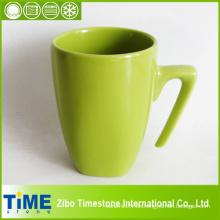 Quadratische 500ml weiße Keramik-Wasser-Cup