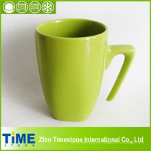 Taza de agua de cerámica blanca cuadrada de 500 ml