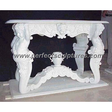 Antique Stone Marble Table for Outdoor Garden Decoration (QTB007)