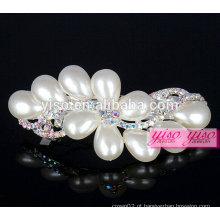 Cristal colorido e pérola jóias ornamentos de cabelo clipe de cabelo