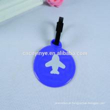 Etiquetas de bagagem de couro pvc personalizadas para as companhias aéreas