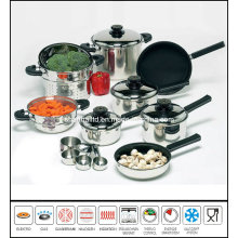 T304 Stainless Steel Cookware Cooking Ware 17piece Kitchenware Set